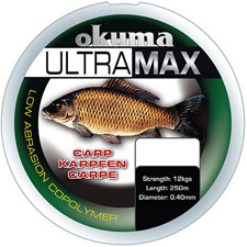 Photos de Fil Nylon Okuma Ultramax Carpe - Marron