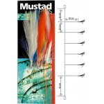 Bas de Ligne Mustad Feather Multicolor T11