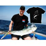 T-shirt Top Fishing Noir