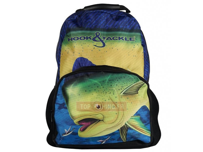 SAC A DOS HOOK & TACKLE BULL DOLPHIN NEGRA