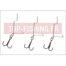 Monture Savage Gear SG Offset Treble Hooks