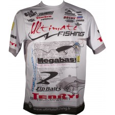 Tee Shirt Ultimate Fishing Competition Blanc