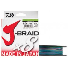 Tresse Daiwa J-Braid x8 Multicolore 300m