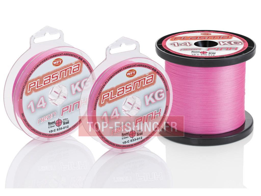 Fil De Peche Rose tresse wft plasma neon rose 150m (tresse pour pêche - wft)