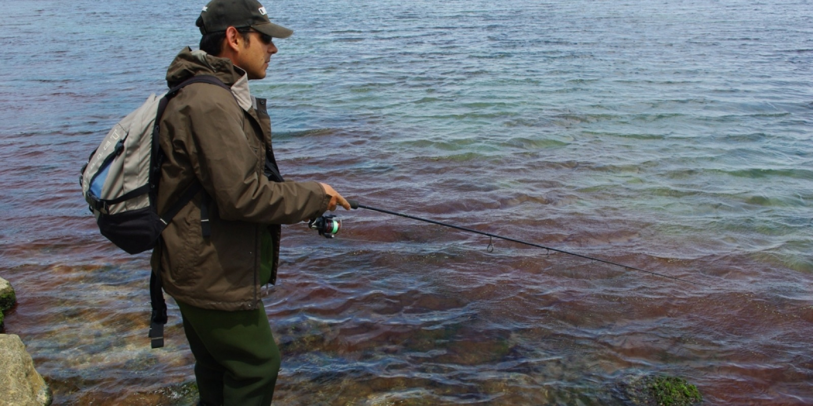La pêche sur lhuile le lac